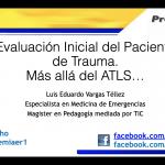 Evaluación inicial del Trauma -Actualización